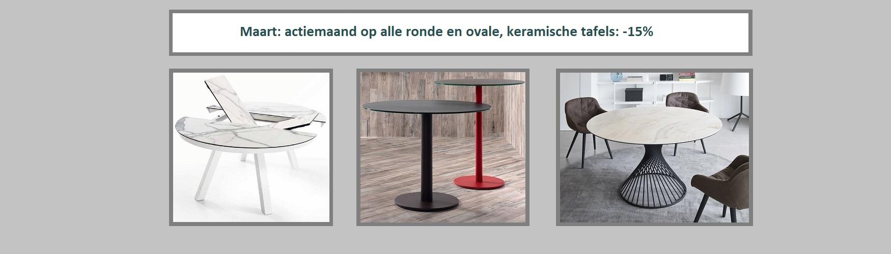 aktie keramiek ronde tafels